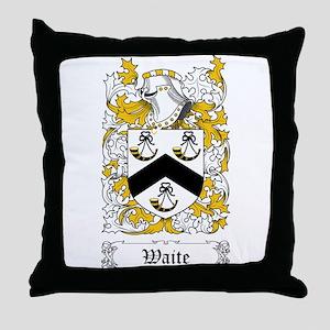 Waite [English] Throw Pillow